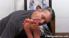 Feet and armpit licking with classy jock