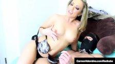 Hot Carmen Valentina Teaches Naked Burglar Lesson in FemDom!