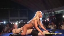 extreme hot lapdance on public stage