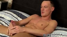 Solo Brit stud tugging his strong cock