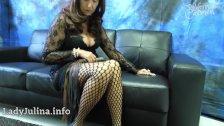 Mature Mistress Herrin Carmen Fishnet Pantyhose Legs and Spike Heels