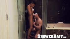 ShowerBait Str8 Brendan Phillips shower fucked by Ethan Slade