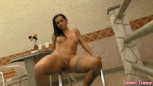 Tattooed Transsexual Strips Naked for You - duration 7:19