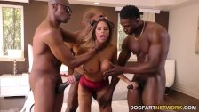 Brooklyn Chase Interracial Gangbang - duration 10:54