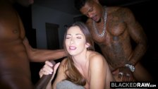 BLACKEDRAW French Girl Secret Hook Up With Two BBCs - duration 12:00