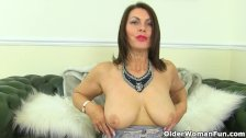 British milf Raven will make your cock hard