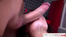 FirstClassPOV - Samantha Bentley sucking a monster cock, big boobs