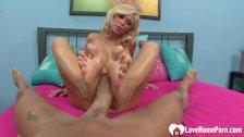 Big tits blonde passionately riding like a slut