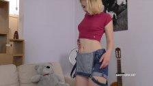 Home Alone Nasty Teen Fucking Her Teddy Bear