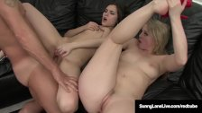 Blonde Star Sunny Lane Double Teaming A Cock with Sasha Grey