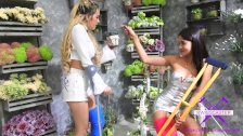 Fetisch-Concept com - 2 girls with long cast leg visit a flower store 1