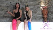 Fetisch-Concept com - 2 girls with long cast legs in jacuzzi