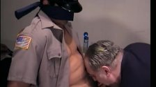 Bound and Blindfolded Straight Boy Gets Gay Blow Job