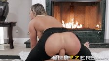 Brazzers - Cali Carter loves anal by the fire place
