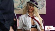 Naughty British student tease teacher in JOI