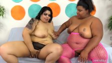 Lesbian BBWs Lick Pussy and Use Sex Toys