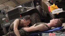 Military twinks ass pounding in secret