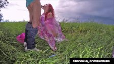 Horny Housewife Shanda Fay Gives Hubby BJ In Stormy Weather!