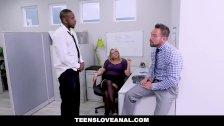 TeensLoveAnal - Sexy Blonde Bombshell Gets DP