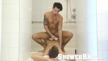 ShowerBait Str8 shower fuck with Casey Everett and Jack Andy