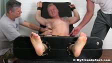 Tickled gay studs struggling helplessly with their masters