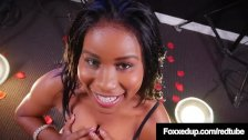 Young Black Beauty Jenna Foxx Sucks A White Cock On Stage!