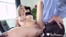 PUREMATURE Round booty secretary MILF Cory Chase anal FUCKED - duration 10:16