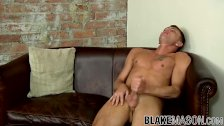 Gorgeous stud Leo D'cartier strokes his dick passionately