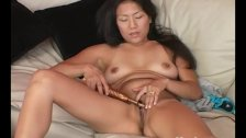 Yanks asian michiko cums on our couch