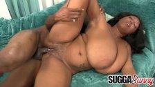 Huge Breasted Ebony Vixen Rachel Raxxx Takes a Big Black Dick in Her Cunt