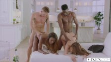 Interracial foursomes swingers