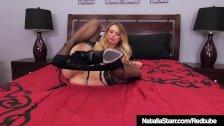 Dildo Drilling Natalia Starr Penetrates Her Precious Pussy!