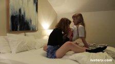 Real Lesbian Love Passionate Kissing and Lovemaking