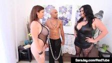 Submissive Sara Jay Fucks BBC King Noir With Angelina Castro