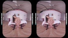Incredibly hot VR POV video with masturbating glamour goddess Krystal Webb