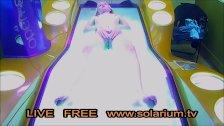 Solarium Cam Blonde teen fingers herself, Public Tanning Salon Reallifecam