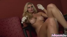 Twistys - Hot blonde Heather Vandeven Plays with her pussy in rubber gloves