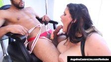 Cuban BBW Angelina Castro Titty Fucked By A Big Black Cock!