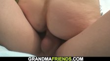 Two buddy fuck sexy blonde granma outdoors