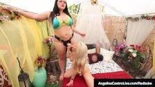 Latina lesbians with strapoms