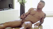 Maskurbate Straight Euro Jerking Big Uncut Cock After Stretching - duration 6:29