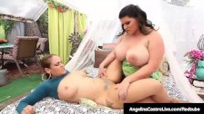 Phat Ass BBW Angelina Castro Bangs Ms. Raquel With Strap On!
