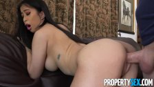 : PropertySex - Asian real estate agent with big natural tits fucks c...