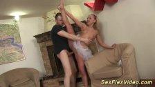 flexi ballerina loves deep gagging