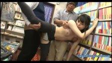 Jav Idol Yamakawa Yuna Ambushed In Book Store Jeans Cut At The Crutch