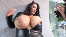 Subrina Lucia has a small nipples on her huge juicy breast