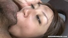 Kinky brunette, Ryo Akanishi can't stop moaning while getting hammered