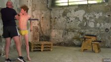 Ginger twink submits to bondage and nipple torment