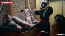 LETSDOEIT - Rough Bondage and Feet Worship for German Lady Officers