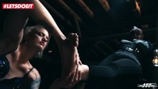 LETSDOEIT - Intense BDSM & Foot Fetish Torture With Lesdom Lullu Gun